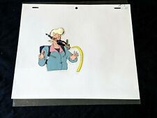 The Real Ghostbusters 1987 Animation Production Hand Painted EGON Cel & Pencil