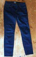 J. Crew Women Jeans Size 28 Dark Wash Toothpick Skinny Mid Rise Cotton B37