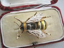 Dainty Enamel & Crystal Bumble Bee/Insect Brooch/Pin