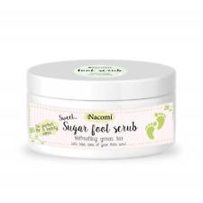 NACOMI - NATURAL SUGAR FOOT SCRUB - GREEN TEA moisturizing and smoothing 125g