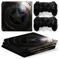FriendlyTomato PS4 Pro Console, DualShock 4 Controller Skin Set Captain America