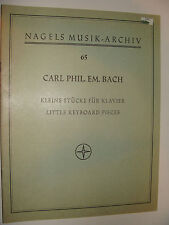 C Ph E Bach 18 Little Keyboard Pieces piano 1930 / 1968 ed. Vrieslander
