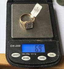 New 9ct Gold Gents CZ Ring, UK Size V. GJ3