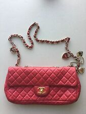 Chanel 2.55 Valentine Pink 100% Authentic Classic Bag With Harts