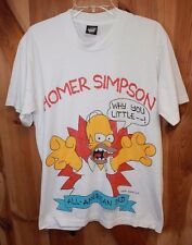 Homer Simpson ~ The Simpsons ~ Vintage 1990 Shirt ~ Adult Large ~ Why You Little