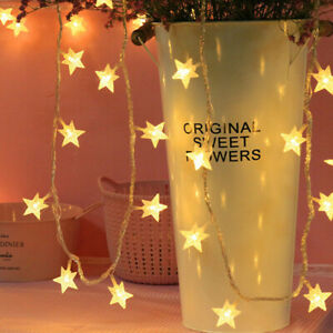 LED Battery Star Lights Operated Fairy String Light Indoor Party Bedroom Lamp UK