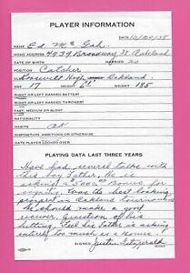 1938 Detroit Tigers Scouting Report Eddie McGah Boston Red Sox historical item