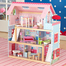 NEW KidKraft Chelsea Doll Wooden Dollhouse   19 Furniture Pieces   Doll Girls
