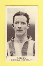FOOTBALL - UNITED SERVICES - FOOTBALL CARD -  RIMMER OF SHEFFIELD WEDS.  - 1936
