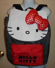 Hello Kitty by Sanrio Loungefly Faux Fur Trim Dotted Backpack Handbag NWT