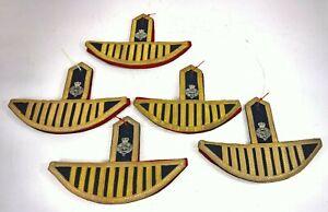 X1 BRITISH ARMY GRENADIER GUARDS BANDSMAN WINGS EPAULETTES PAIR