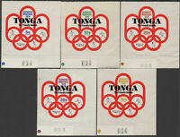 Tonga 1976 SG558-562 First Participation in Olympic Games set MNH