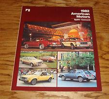 Original 1982 AMC American Motors Spirit & Concord Sales Brochure 82