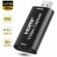 HDMI to USB Video Capture Card 1080P HD Recorder Game Video Live Streaming Hot