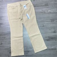 Time and Tru Mid-Rise Bootcut Jeans Womens Size 24 Denim Slim Fit Brownstone NWT