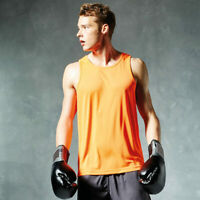 AWDis Mens Breathable Vests Gym Training Smart Fitted Sports Wear Sleeveless New