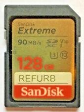 Refurbished SanDisk Extreme Pro SDHC UHS-I 128GB Memory Card + Free GODIVA