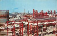 Midland Michigan~Dow Chemical Company~Factory~Smoke Stack~1960s Postcard