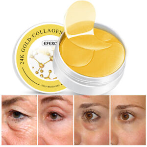 60pcs Crystal Collagen Gold Under Eye Gel Pad Face Mask Anti Aging