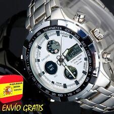 Reloj Hombre Digital Deportivo Militar de Caballero Relojes Hombres Esfera Blanc