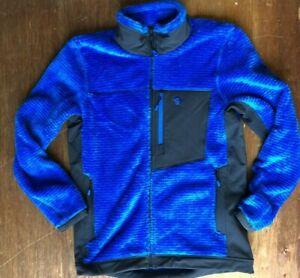 Mountain Hardwear Men's Monkey Man Fleece Jacket Mens L Blue