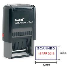 TRODAT 4750 Data timbro scansionati formulazione in Blu/Rosso