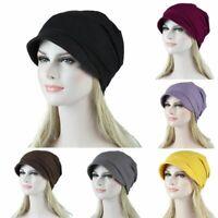 Women Elastic Cotton Turban Hat Cancer Chemo Hair Loss Cap Head Wrap Scarf NEW