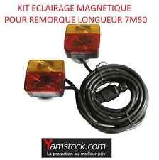 Kit de signalisation eclairage magnetique - 2 feux arrieres pour remorque aimant