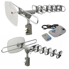 360 Rotation Outdoor Analog Analogue Amplified Antenna TV VHF HDTV UHF HD Rotor