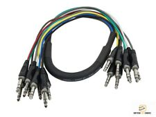 "3ft 1m 8-Channel Snake Cable 6.35mm 1/4"" inch TRS Male to Male Plug Pro Audio"