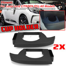 Pair For Citroen DS3 2009-2016 Left + Right Hand Side Cup Drink Holder ABS Black