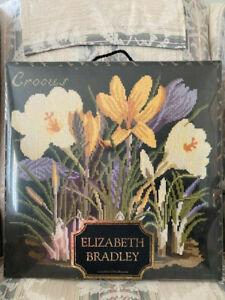 ELIZABETH BRADLEY NEEDLEPOINT - THE CROCUS [COMPLETE KIT, NEVER OPENED]