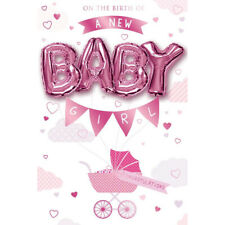 On the Birth of a new Baby Girl Balloon Boutique Greeting Card