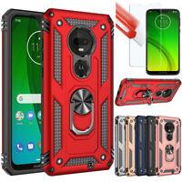 For Motorola Moto G7 Plus/Play/Power/Supra Case Shockproof Armor Cover+Film