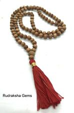 White Sandalwood Mala 100 + 1 Beads Hindu Japa Meditation Yoga Rosary Necklace