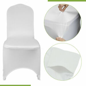 1-150pcs Spandex Wedding Dining Chair Covers Slip Seat Cover Stretch Removable