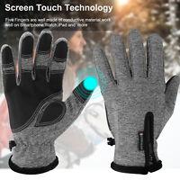 Winter Touch Screen Gloves Zipper Thermal Thicken Skiing Warm Mittens Men Women