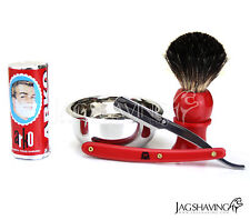 Para Hombre Afeitar Set Kit Regalo Doble Filo Premium Barber Razor Arko Jabón Y Cepillo