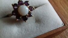 9ct Gold Vintage Amethyst & Opal Ring