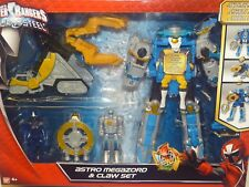 POWER RANGERS NINJA STEEL ASTRO MEGAZORD & CLAW ACTION FIGURE SET NEW