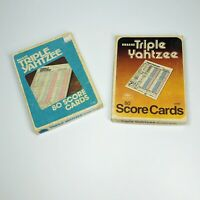 Vintage 1978 & 1980 Milton Bradley Deluxe Triple Yahtzee 80 Score Cards