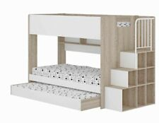 SINGLE Bunk Bed Solid With Pullout TRUNDLE with staircase storage New Kids