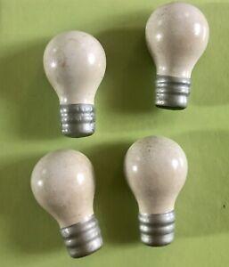 Vintage Wooden Lightbulb Magnets