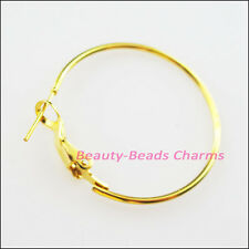 10Pcs Jewelry Lot Circle Basketball Wives Hoops Earrings 30mm 14K Gold Plated