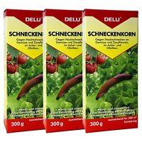 DELU Schneckenkorn 3 x 300 g - Nacktschnecken Bekämpfung Schnecken Schneckengift
