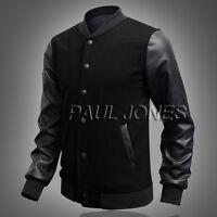 Mens Designer Bomber Varsity Letterman Jacket Coat- S, M, L, XL- Baseball Jacket