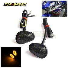 LED Turn Signal Light Indicator Lamp Flush Mount For Yamaha YZF R1 R6 R6S Smoke
