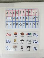 New 2 Learning Resources Tabletop Pocket Chart Card Set (Word Family & Alphabet)