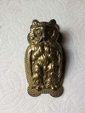 Antique Bronze Owl Desk Paper Note Clip Holder