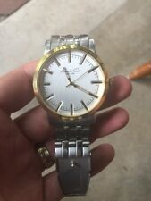 Kenneth Cole Men's Watch KC9335 Silver Dial Gold Accent Stainless Steel